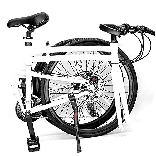 BMDHA MTB Plegable,Bicicleta De montaha Freno De Disco MecáNico Cambio De Velocidad Preciso,Bicicleta 24 Pulgadas 27 Velocidades Bicicleta Montana Adulto