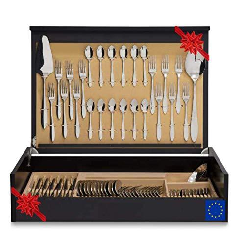 La Vida en Led - Set di posate di lusso con coltello da carne, 75-113 pezzi, astuccio regalo (75)