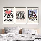 ZCFDXXH Abstrakte Kunst Keith Haring Kunstausstellung