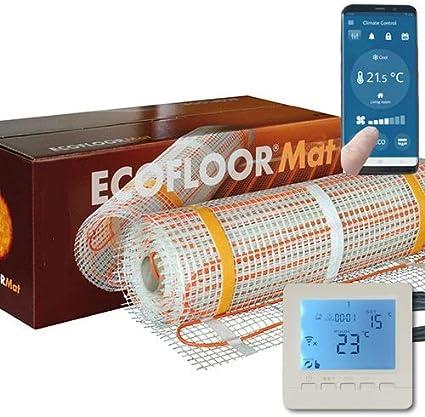 160 Watt PREMIUM Fußbodenheizung elektrisch Fliese Bad Heizmatte Thermostat 1,0 m²