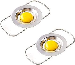 DSWW Stainless Steel Egg Separator Telescopic Egg White Yolk Filter for Cooking Kitchen Gadget (Telescopic)