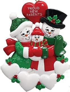 proud new parents christmas ornament