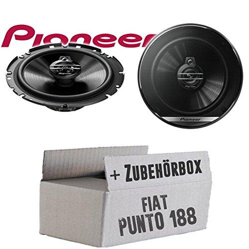 Lautsprecher Boxen Pioneer TS-G1730F - 16cm 3-Wege Koax Paar PKW 300WATT Koaxiallautsprecher Auto Einbausatz - Einbauset für FIAT Punto 2 188 Front - JUST SOUND best choice for caraudio