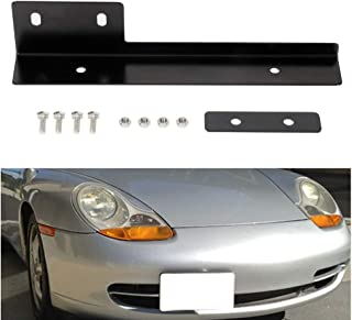 cciyu Front Bumper Tow Hook License Plate Mount Bracket Holder Bolt Universal