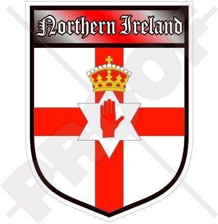NORDIRLAND Ulster Fahne Schild Großbritannien UK 100mm Auto & Motorrad Aufkleber, Vinyl Sticker