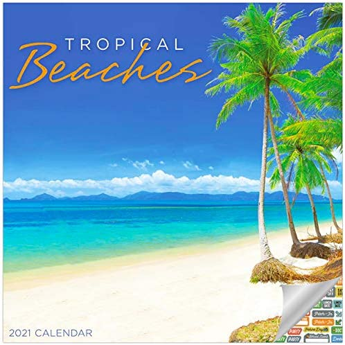 Tropical Beaches Calendar 2021 Bundle Deluxe 2021 Beaches Mini Calendar with Over 100 Calendar product image