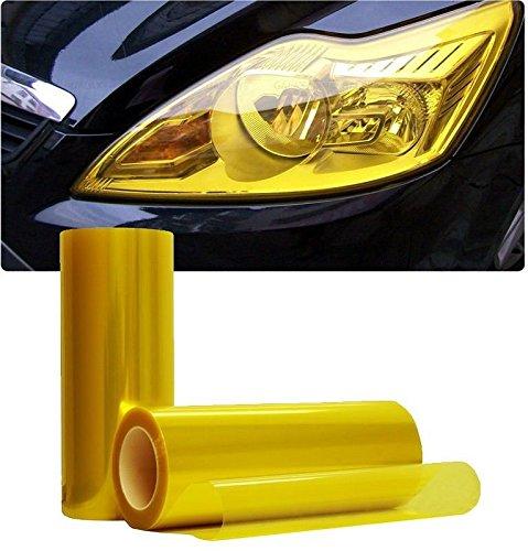Golden Gelb Tint 2000mmx300mm–Scheinwerfer und Nebelscheinwerfer Tönung–Best Tint auf Amazon sehr einfach anzubringen–ist 2Frontscheinwerfer