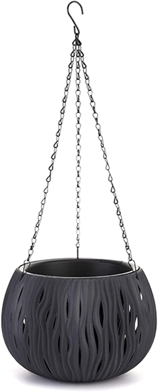 Max 74% OFF 27x22x60cm Minneapolis Mall Black Hanging Planter for Indoor Outdoor Pot H Flower