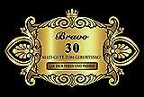 Oblique Unique® Aufkleber Flaschenetikett Etikett 30 Geburtstag Gold elegant
