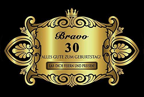 Oblique-Unique® Aufkleber Flaschenetikett Etikett 30 Geburtstag Gold elegant