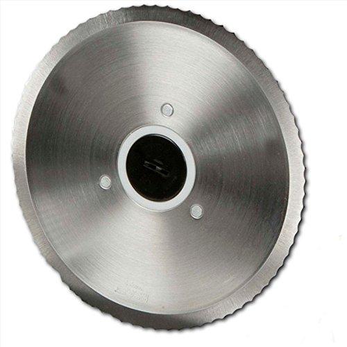 Cuchilla de repuesto para cortafiambres de metal, hojas de corte Diámetro 19cm, superficie de corte curvados