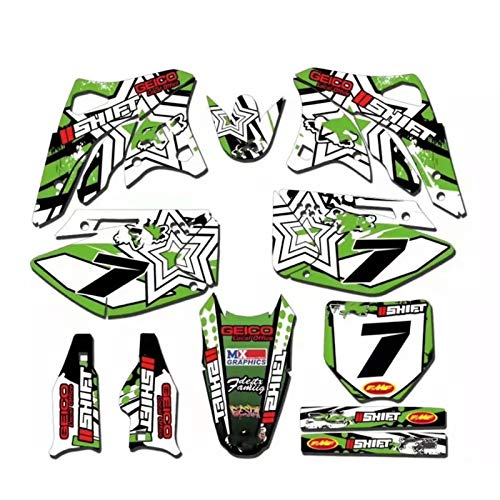 GRÁFICOS Fondos Etiquetas ENGOMADAS Kits for Kawasaki KX250F KX 250F KXF 250 KXF250 2006 2007 2008 for Kawasaki 250KXF Motocross Pegatinas (Color : Brown)