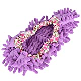 Zapatillas de fregona, cubierta de zapatos de fregona desmontable de chenilla de buena absorción de agua con cubierta de zapatos de fregona para baño para hombre para sala de estar(púrpura)