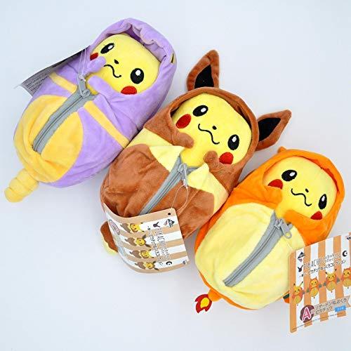 SDFK PokemonPikachu Im Schlafsack Weiche GefülltePlüschpuppenPikachu CosEeveeCharizardEkansMantel Puppenspielzeug Kinder 25Cm