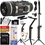 SiOnyx Aurora PRO Night Vision Sports & Action Camera Bundle - Includes: Manufacturer Accessories, SanDisk Extreme 64GB microSD Memory Card, Multi-Function Grip/Arm/Tripod/Selfie Stick & Mount Adapter