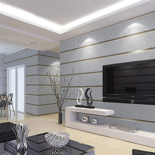 kengbi Fácil de decorar popular papel pintado duradero rayas horizontales papel pintado para paredes de ante 3D tela no tejida moderna sala de estar sofá TV fondo papel pared decoración del hogar