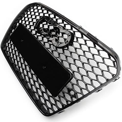 Underground Parts RS5 Style Honeycomb Front Bumper Grille Gloss Black