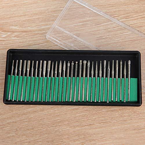 Brocas abrasivas de metal, juego de brocas abrasivas, 30 piezas para máquina de grabado amoladora eléctrica