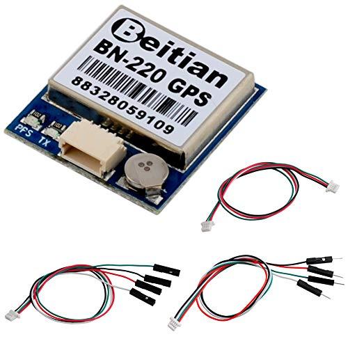 DIYmalls BN-220 GPS Module TTL Dual GPS Glonass w/Flash + GPS Passive Antenna for Arduino Raspberry Pi Pixhawk CC3D Betaflight Flight Control