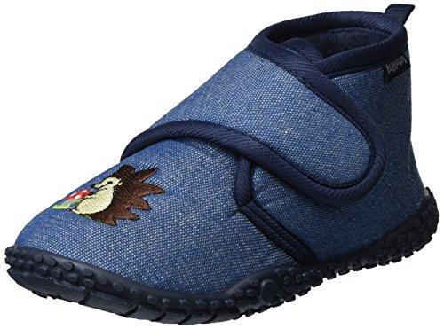 Playshoes Zapatillas Erizos, Pantuflas Unisex Niños, Azul (Jeansblau 3), 26/27 EU