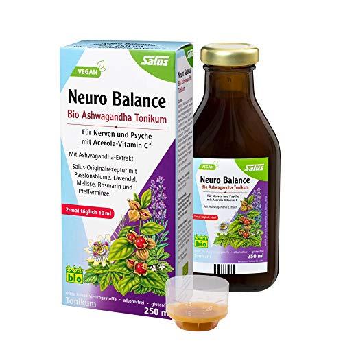 Salus Neuro Balance Bio Ashwagandha Tonikum – für Nerven und Psyche mit Acerola-Vitamin C – mit Ashwagandha-Extrakt – vegan – 250 ml