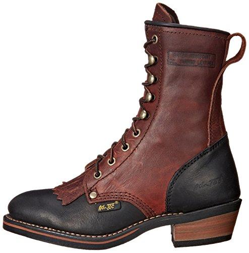 """Adtec Women's 8"""" Packer Dark W Boot, Cherry/Black 4"""