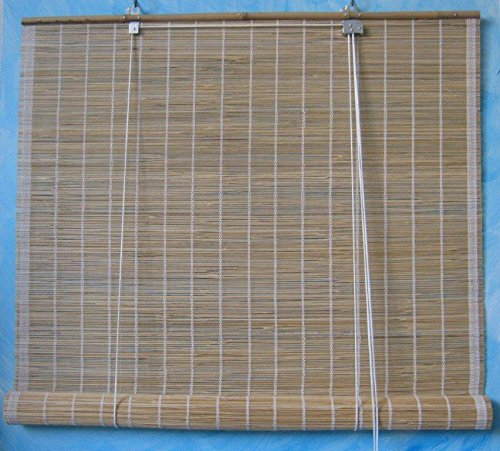 anfuso ARELLA in Bamboo Tenda in Canna FINE con CARRUCOLA 1,00X2,40mt OMBREGGIANTE