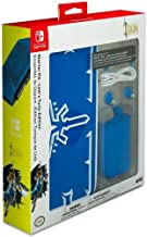 Nintendo Switch Zelda Breath of the Wild Starter Kit with Travel Case, Screen Protector, Joy Con Guards and Earbuds by PDP