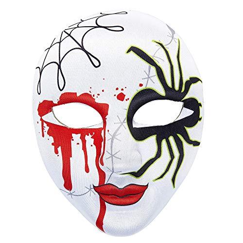 Widmann Masque Tissu moitié du Visage de la Femme araignée Halloween Carnaval fête Costumes
