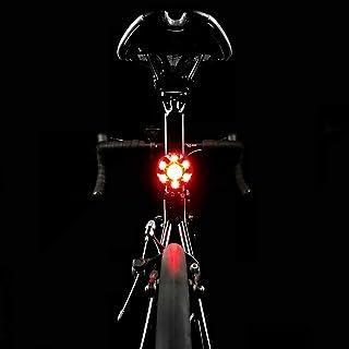 luce per promemoria freno intelligente luce per bicicletta impermeabile S1 USB Fanale posteriore ricaricabile per bici fanale posteriore per bicicletta 5 modalit/à flash