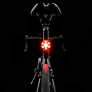 MEILAN S1 USB Rechargeable Bike Tail Light, Bicycle Light Waterproof, Cycling Taillight, 5 Flash Modes, Smart Brake Reminder Light