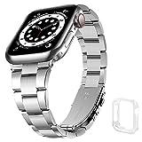 Correa para Apple Watch SE 6/5/4/3/2/1,Correa de Metal para iWatch 42mm/44 mm, Pulseras de Repuesto para Apple Watch 6,Correa de Reloj para Hombre