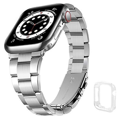 Correa Compatible para Apple Watch 40mm con Carcasa de TPU, Correa de iWatch de Acero Inoxidable 38mm No se Requieren Herramientas, Correa de Repuesto para iWatch 6/SE/ 5/4/3/2/1, Correa 38 mm