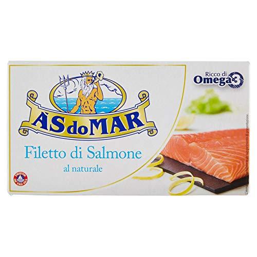 Asdomar Filetti di Salmone al Naturale, 150g