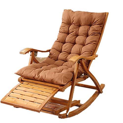 LLSS Mecedora AJH, cómoda Mecedora Relajante, sillón de salón con cojín de Tela de algodón, envía un Regalo al sillón de Ancianos