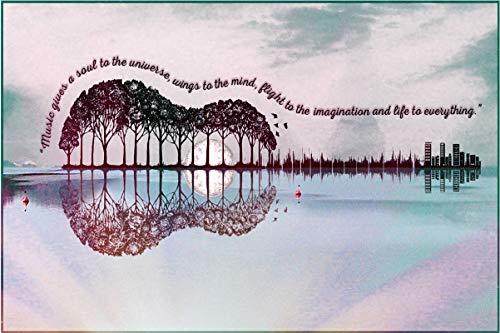 Puzzle Per Adulti, Paesaggio Dell'Albero Della Chitarra, Puzzle In Legno, Regalo Di Natale (500 pezzi, Puzzle del paesaggio dell'albero della chitarra)