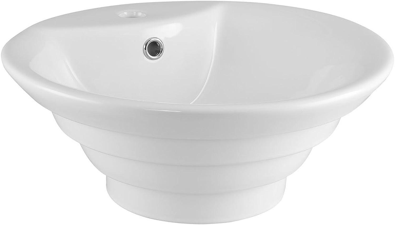 Premier NBV006 Round Tiered Vessel, White, 460 mm