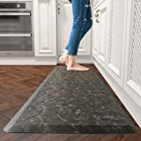 Floral Kitchen Floor Mats Cushioned Anti Fatigue for House 1/2 Inch Thick Non-Slip Kitchen Rugs and Mats Foam Standing Mat in Front of Sink, Office