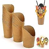 Vasos de Cartón para Alimentos Portavasos para Pasteles Recipientes Aperitivos para Patatas Fritas...