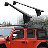 Snailfly Cross Bars Roof Rail Racks Fit for 2007-2018 Jeep Wrangler JK & 2018 2019 2020 2021 Jeep Wrangler JL Unlimited...