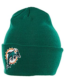 NFL End Zone Cuffed Knit Hat - K010Z Miami Dolphins One Size Fits All
