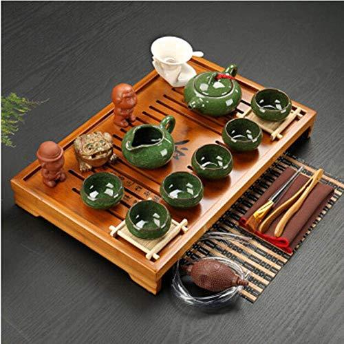 Nfudishpu Juego té Arcilla púrpura cerámica Kung Fu Pot Infusor Bandeja té Madera Maciza Tetera Tazas té Vajilla China Gaiwan, s2