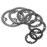 104BCD 22/24/32/42 / 44T montaña de la Bicicleta MTB de la Bicicleta Conjunto de Platos y bielas de Aluminio Velocidad  Cambio de Engranaje Chainring BCD 104 (Color : 22T Steel Plate)
