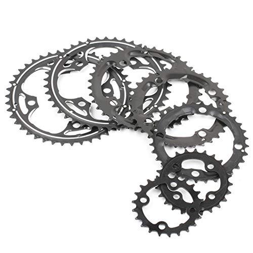 104BCD 22/24/32/42 / 44T montaña de la Bicicleta MTB de la Bicicleta Conjunto de Platos y bielas de Aluminio Velocidad □□ Cambio de Engranaje Chainring BCD 104 (Color : 22T Steel Plate)