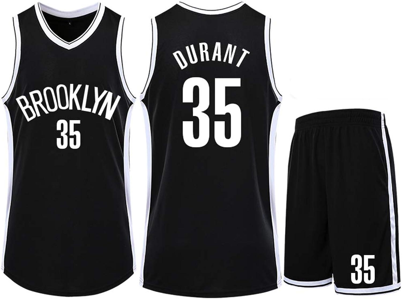 Nets Durant No. 35 Trikot, Basketball-Sweatshirt, klassischer rmelloser Anzug, Unisex, XS-XXL, Fan-Version Herrenliga-XXXXL-schwarz
