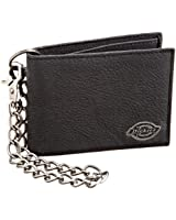 Dickies Men's Bifold Chain Wallet-High Security with ID Window and Credit Card Pockets, Classic Black, One Size