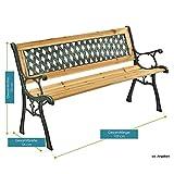 ArtLife 2-Sitzer Gartenbank Pisa aus lackiertem Holz & Gusseisen - 7