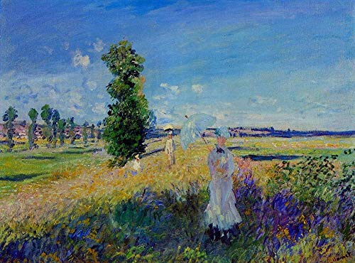 Singing Palette 12 berühmte Gemälde auf Leinwand von akademischen Malern - 40€-1500€ Handgefertigte Ölgemälde - Walk Argenteuil Claude Monet Woman with Umbrella Landschaft - Kunst Bilder -Maße07