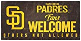 Fan Creations MLB San Diego Padres Unisex San Diego Padres Fans Welcome Sign, Team Color, 6 x 12 (M0847-Padres)