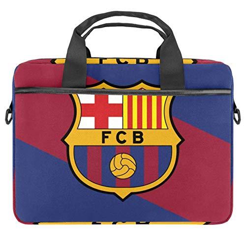 LORVIES - Bolso bandolera para portátil de 14 a 15,4 pulgadas con diseño de bandera de Barcelona